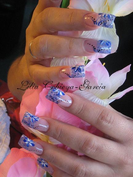 Oceanic theme nail art