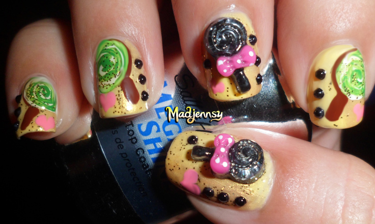 Lollipop nail art