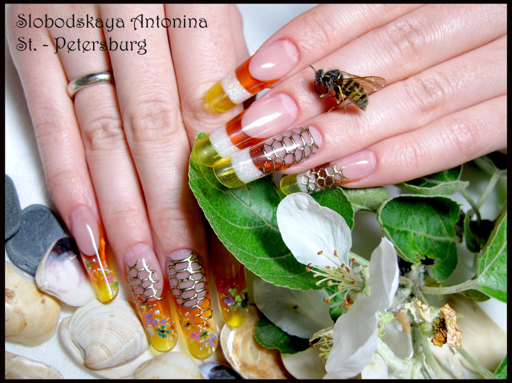 Summer Fun Theme French Nail Art