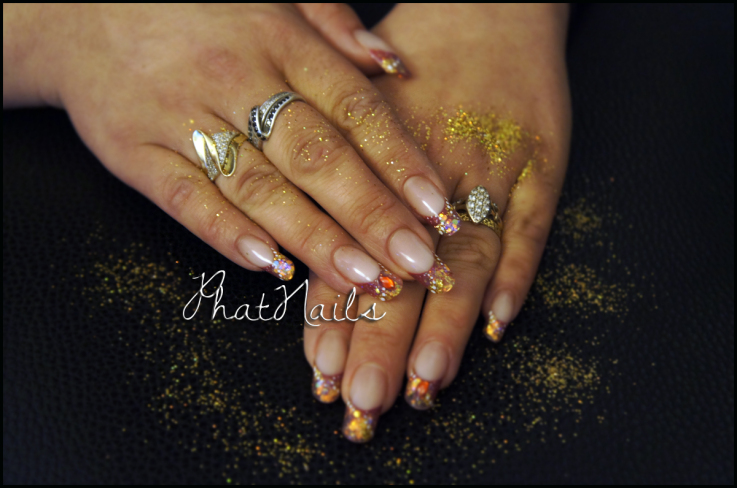 Magic Glitter Dust Acrylic Nails