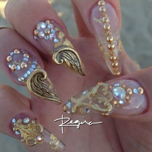 Angle Wings Charms Nail Art