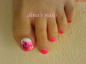 Cute Lovely Pedicure Design