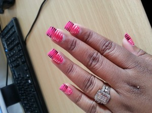 Zebra Nails Are Always Trendy