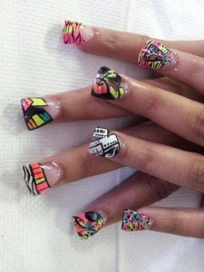 Fiesta Fun Nail Art