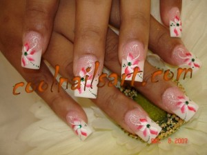 Flowers and Petals Nail Art