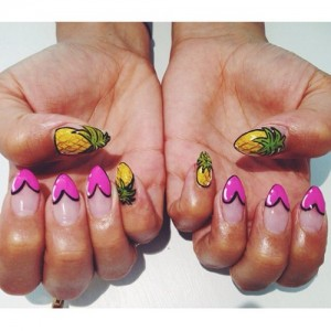 Pineapple Pimping Nail Art