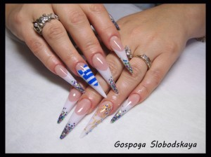 Pretty Birthday Party Nail Art