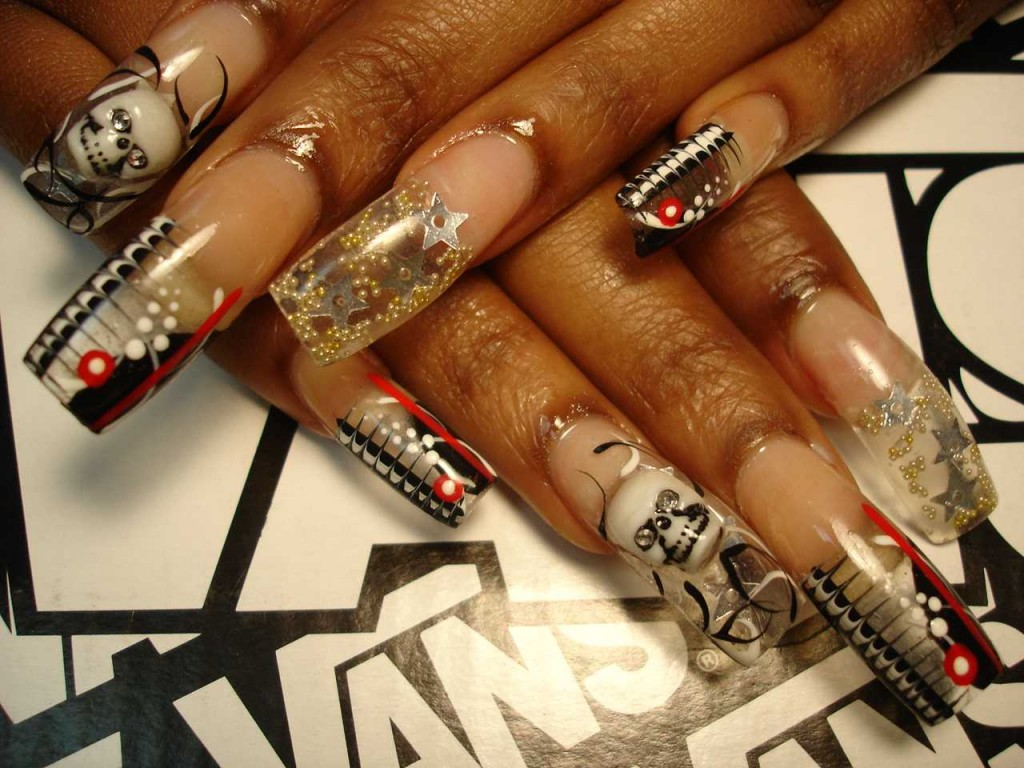 Rock Style Nail Art: D art glitzy fingers. Tribal nail designs to ...