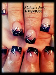 Short Tips Acrylic Nails