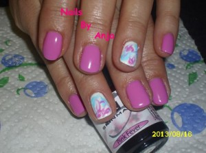 Candy Pink Manicure Design