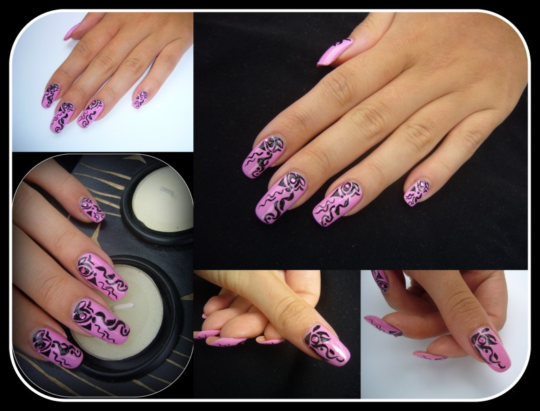 View Images Black over purple nail design ... - Nail Designs With Purple And Black ~ Black Purple And Silver Nail