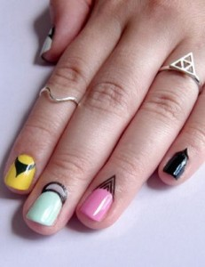 Strange Looking Nail Art Pattern