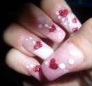 Heart with Dots Nail Art