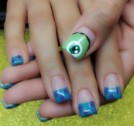 Monster University Cartoon Nail Art