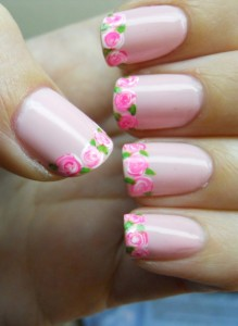 Rose Tip Nail Art