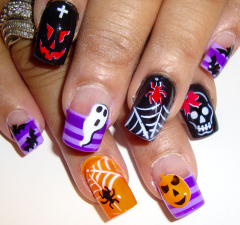 airbrush nail art all halloween