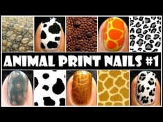 Animal Prints Nail Design Tutorial easy to do from home