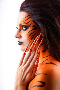 Body Paint and Burning Nail Design