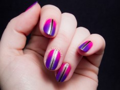 multiple shades colors a gradiant nail design