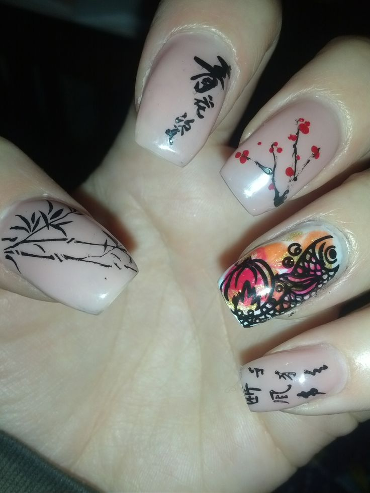 Asian Theme Nail Art