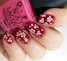 Asian Flower Nail Art