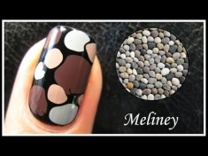 Stone Rock Pebble like nail design tutorial