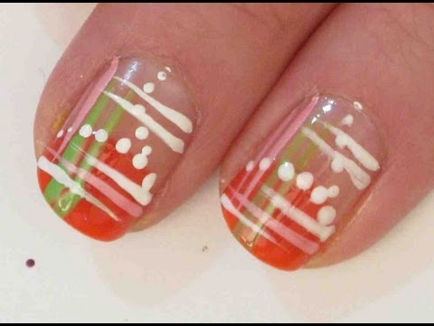 Simple Summer Abstract Nail Design Tutorial Nail Art Design From