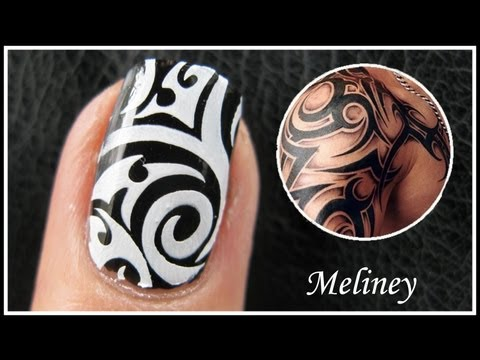 TATTOO NAIL ART DESIGNS – GRAFFITI KONAD STAMPING TUTORIAL