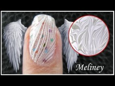 Angel wings marble style nail art tutorial for at home nail artists