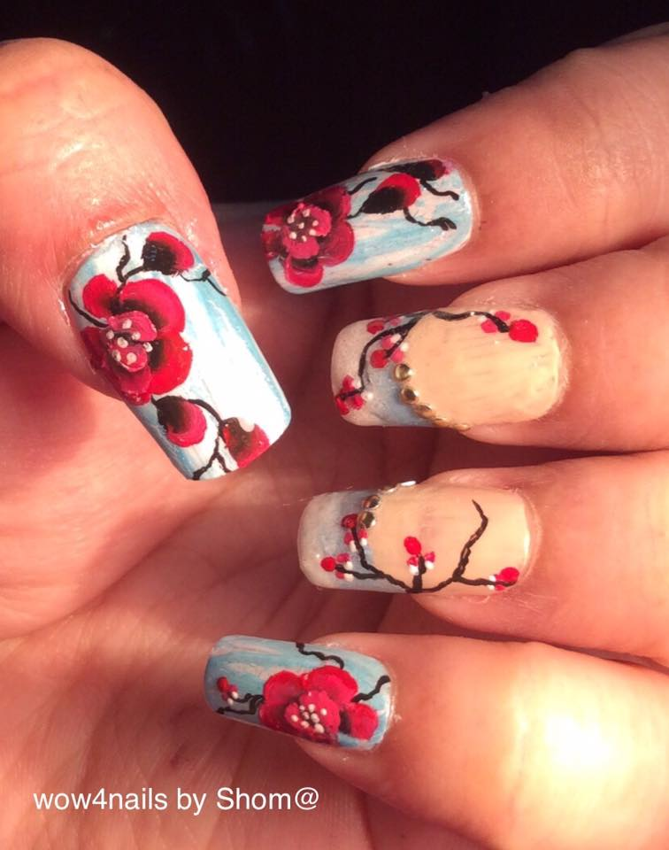 One stroke orchid nail art   u can watch the video by clicking on the link below…..  https ...